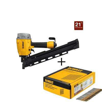 21° Pneumatic Collated Framing Nailer with Bonus 2-3/8 in. Framing Nails