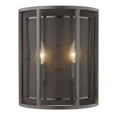 Verona 2-Light Oil Rubbed Bronze Wall Sconce