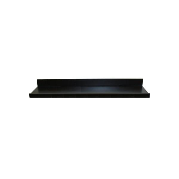 inPlace 35.4 in. W x 3.5 in. H x 4.5 in D Black MDF Picture Ledge Floating Wall Shelf