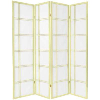 6 ft. Ivory Double Cross 4-Panel Room Divider