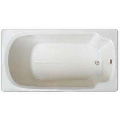 5 ft. Rectangular Drop-in Non-Whirlpool Bathtub in White
