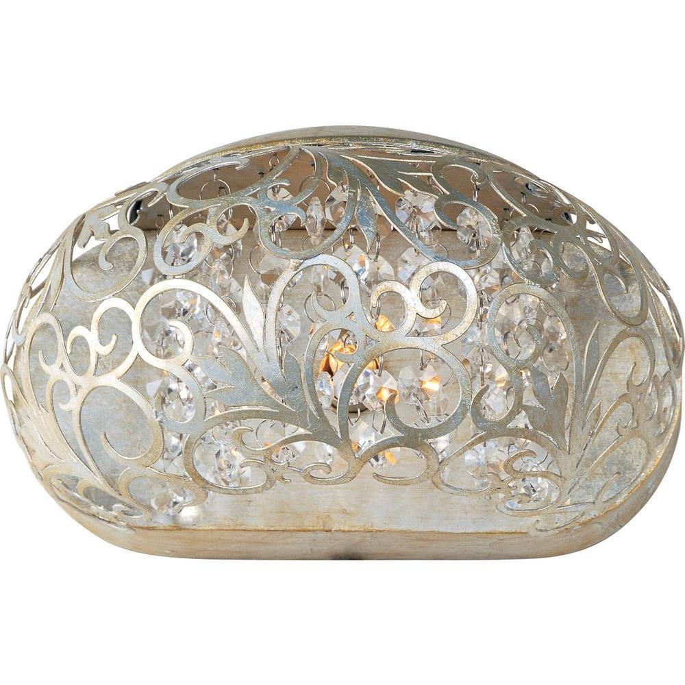 Arabesque 1-Light Golden Silver Sconce