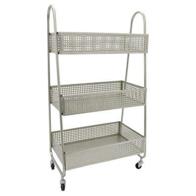 11 in. x 16 in. Storage Rack in Silver