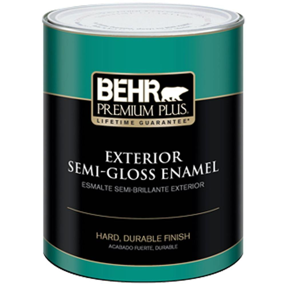 Behr Premium Plus 1 Qt Medium Base Semi Gloss Enamel Exterior Paint