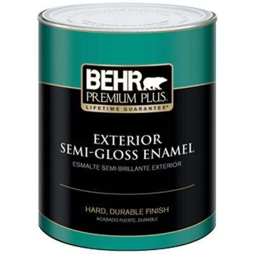 1-Qt. Medium Base Semi-Gloss Enamel Exterior Paint