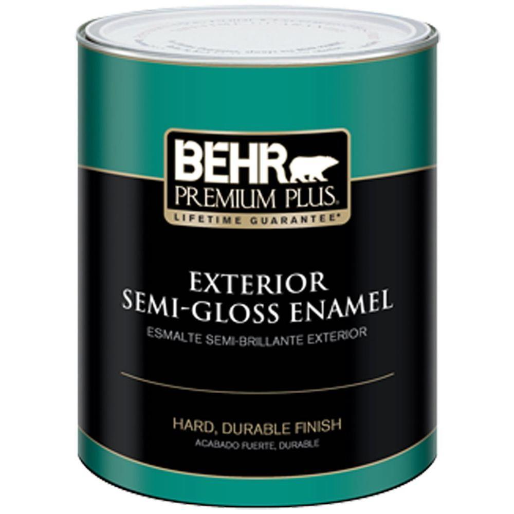 1-Qt. Ultra Pure White Semi-Gloss Enamel Exterior Paint
