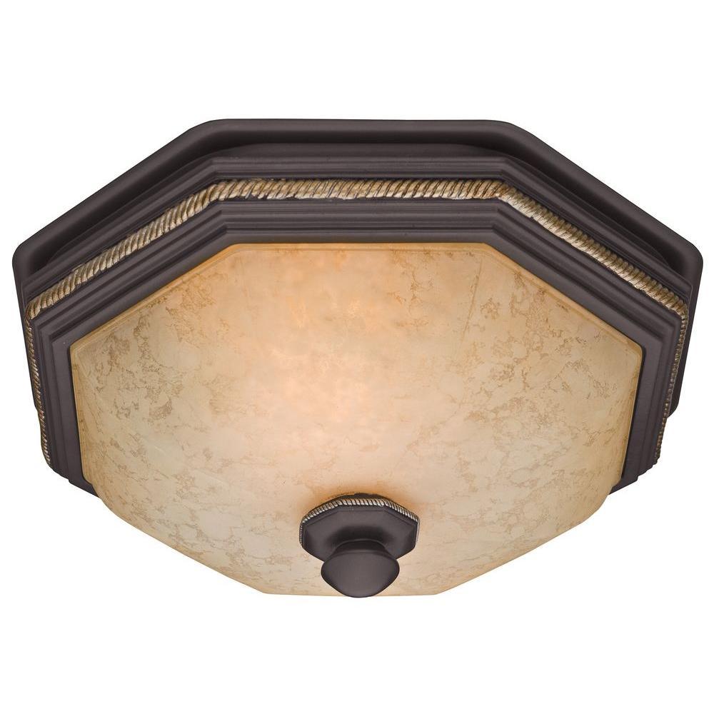 Belle Meade Decorative 80 CFM Ceiling Bath Fan With Snowflake Glass