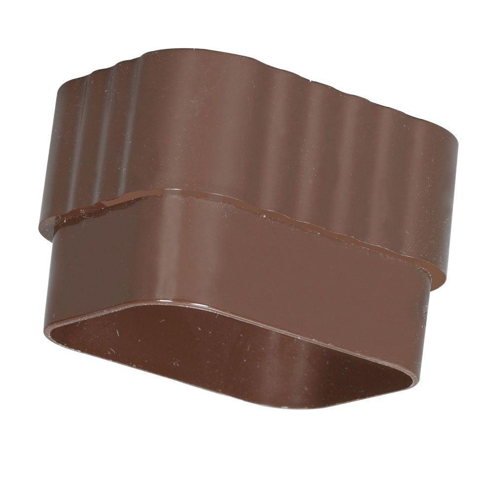 Amerimax Home Products 2 In X 3 In Brown Vinyl Downspout