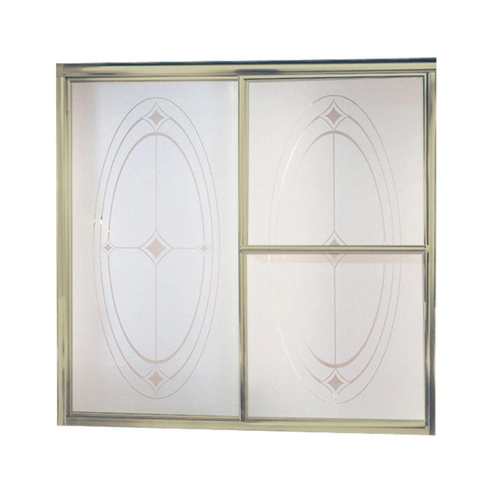 Sterling Deluxe 59 38 In X 56 14 In Framed Sliding Bathtub Door