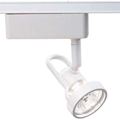 1-Light MR16 12-Volt White Cast Ring Track Lighting Head