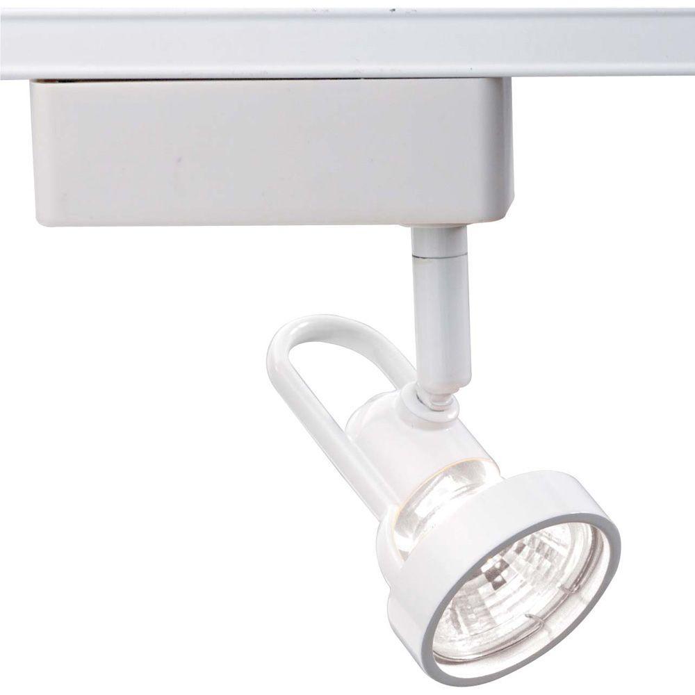 1-Light MR16 12-Volt White Cast Ring Track Lighting Head