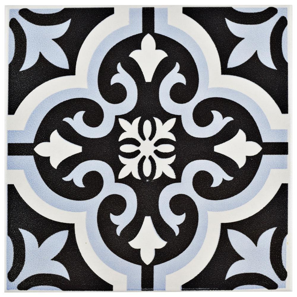 Braga Blue 7-3/4 in. x 7-3/4 in. Ceramic Floor and Wall Tile (10.76 sq. ft. / case)