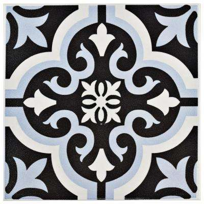 Braga Blue 7-3/4 in. x 7-3/4 in. Ceramic Floor and Wall Tile (10.76 sq. ft. / case)