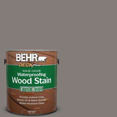 1 gal. #PPU18-17 Suede Gray Solid Color Waterproofing Wood Stain