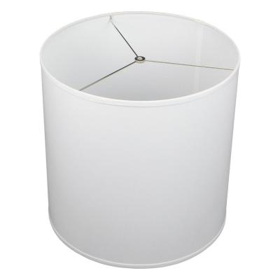 Fenchel Shades 18 in. Top Diameter x 18 in. Bottom Diameter x 18 in. Height Drum Lamp Shade - Linen White