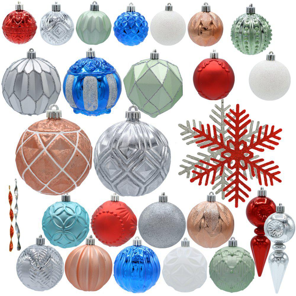 Home Accents Holiday Snowtop Dazzle Assorted Ornament Set