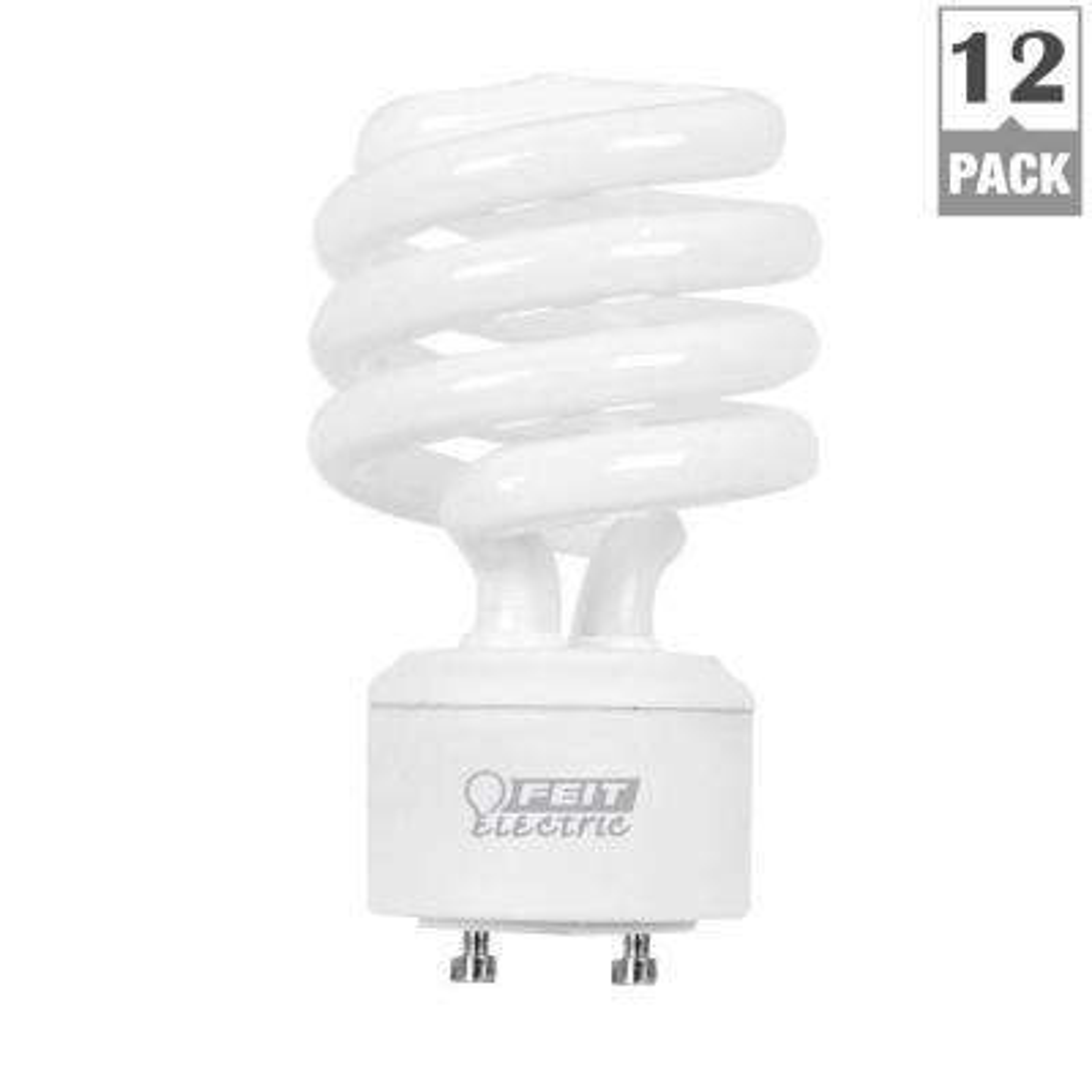 75-Watt Equivalent Soft White (2700K) Spiral GU24 CFL Light Bulb (12-Pack)
