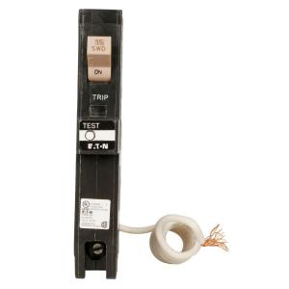 CUTLER HAMMER CH115GF GROUND FAULT CIRCUIT BREAKER 15A I POLE 120//240 VAC NEW