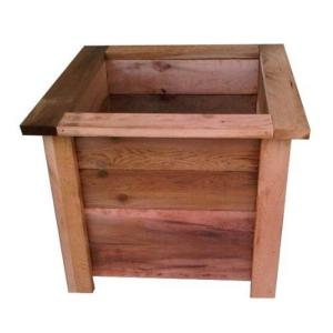 20 inch Square Western Red Cedar Planter by