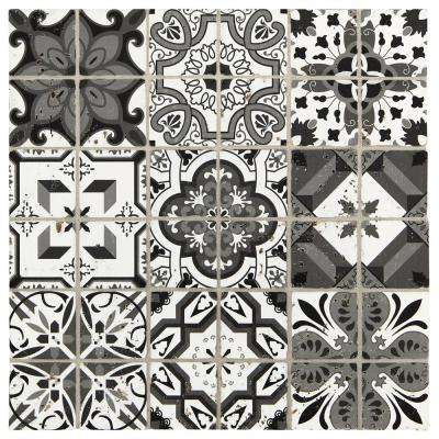 Premier Accents Night Fall Brick Joint 11 in. x 11 in. x 8 mm Stone Mosaic Wall Tile (0.97 sq. ft. / piece)