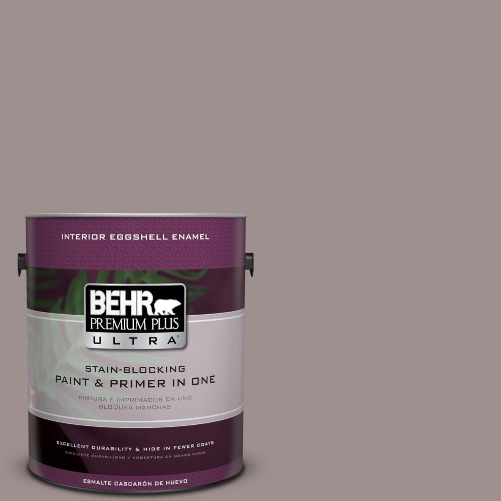 1 gal. #780B-5 Cheyenne Rock Eggshell Enamel Interior Paint and Primer