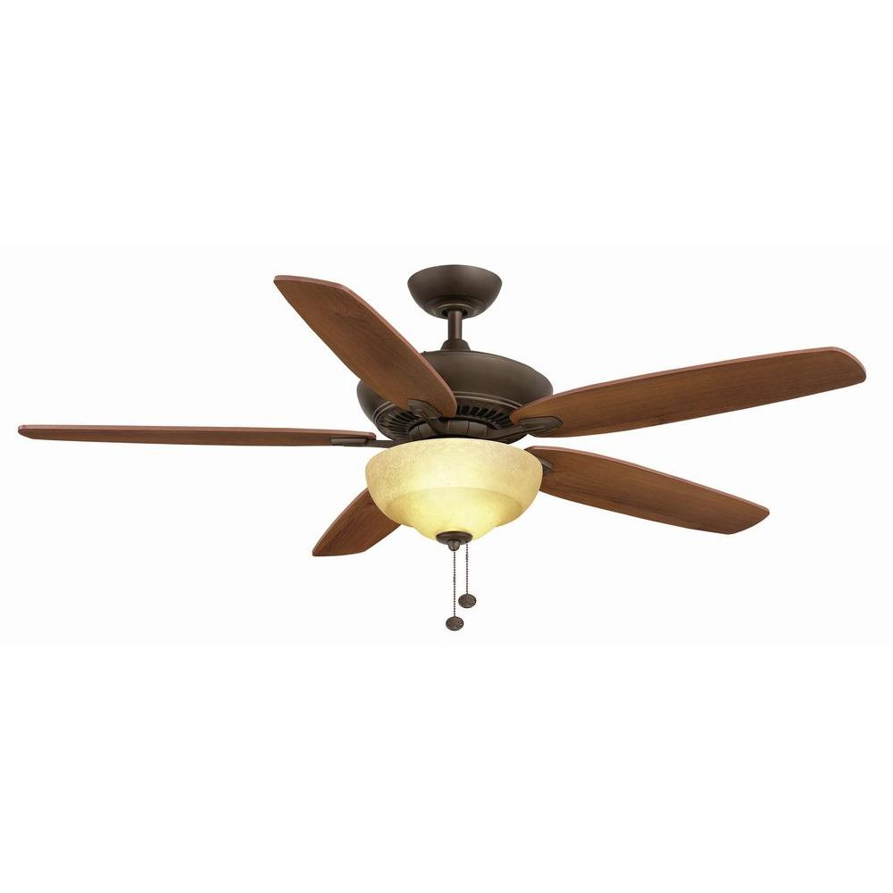 Hampton Bay Langston 60 in. Indoor Oil-Rubbed Bronze Ceiling Fan with Light Kit