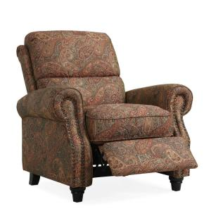 Prolounger Paisley Push Back Recliner Chair Rcl12 Pgp46