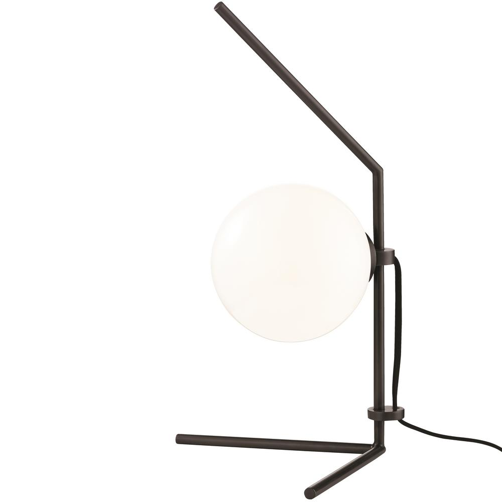 Mitzi by Hudson Valley Lighting Tori 19.75 in. Old Bronze LED Table Lamp with Opal Glossy Glass