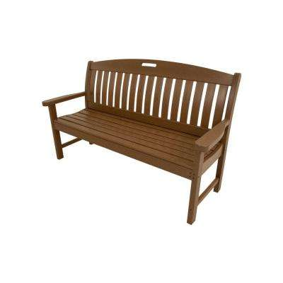 Avalon 60 in. Teak All-Weather Patio Porch Bench