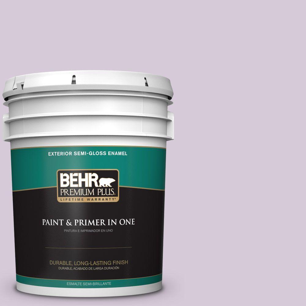 5-gal. #670C-3 Purple Cream Semi-Gloss Enamel Exterior Paint