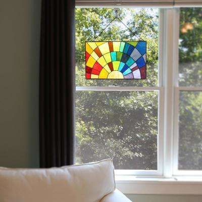 Multi Stained Glass Rays of Sunshine Window Panel