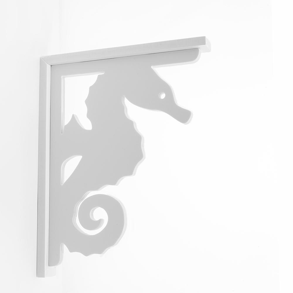 Decorative 9-1/2 in. Paintable PVC Seahorse Shelf Bracket