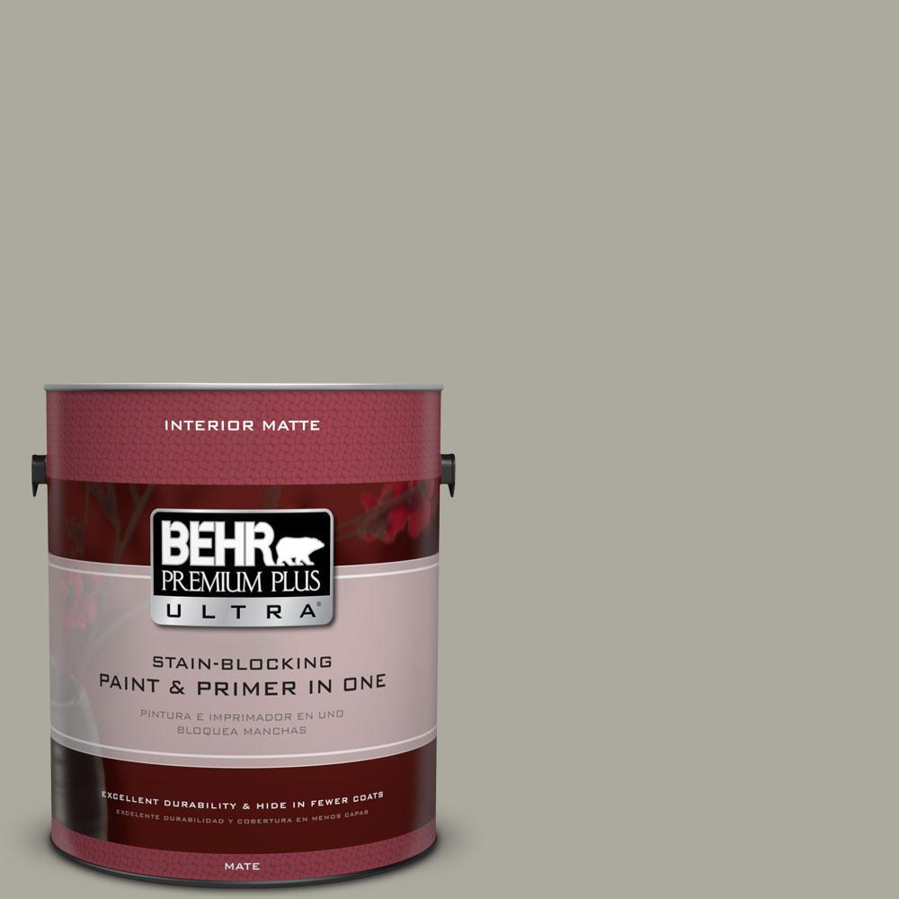 1 gal. #ECC-48-1 Winter Rye Matte Interior Paint and Primer in