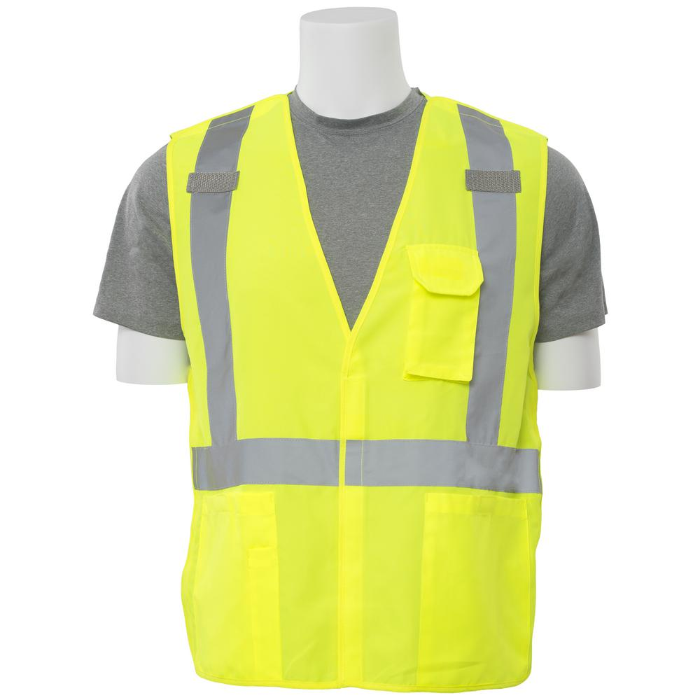 S360 2X Class 2 Multi Pocket Break-Away Poly Oxford Hi Viz