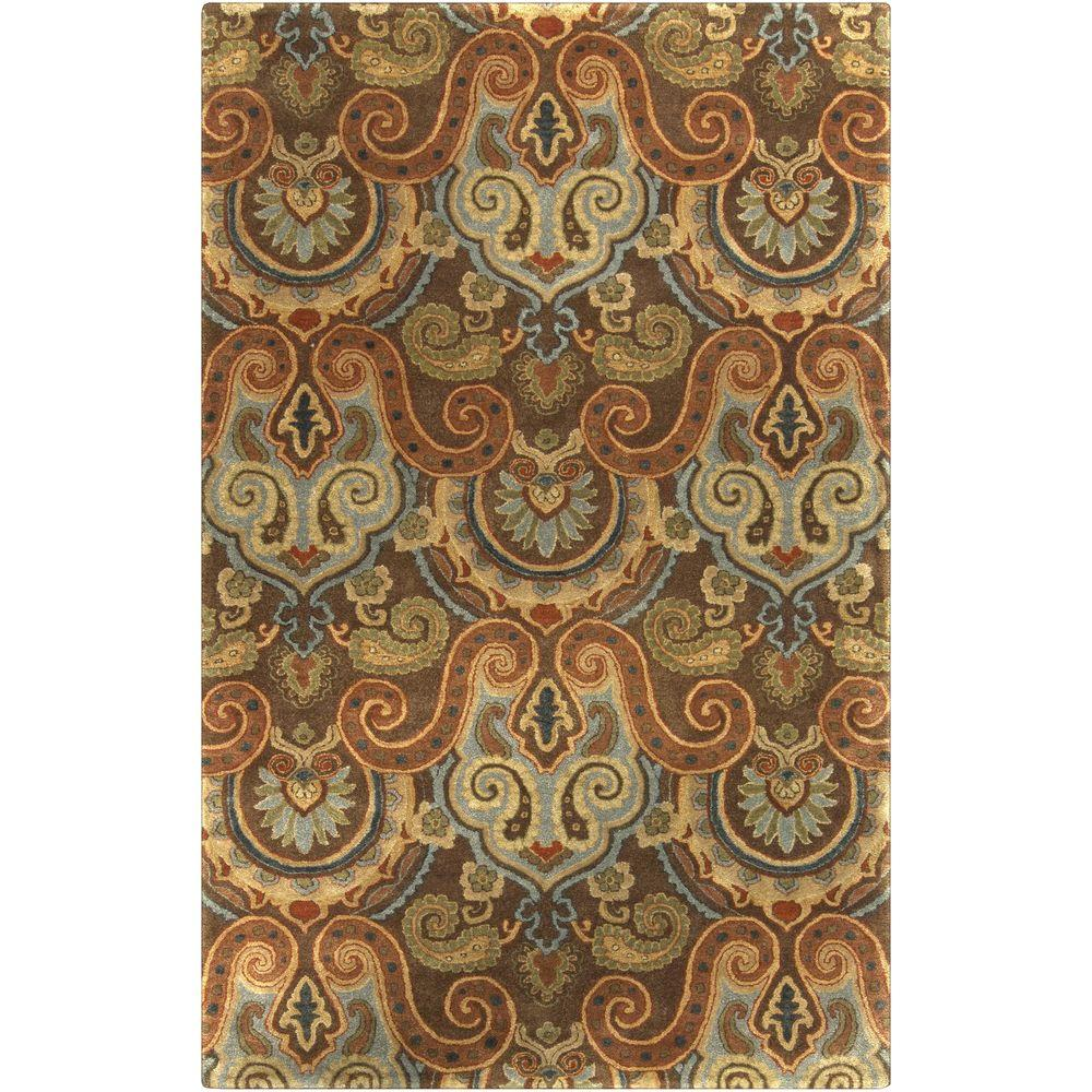 Beccariella Chocolate 2 ft. x 3 ft. Indoor Area Rug