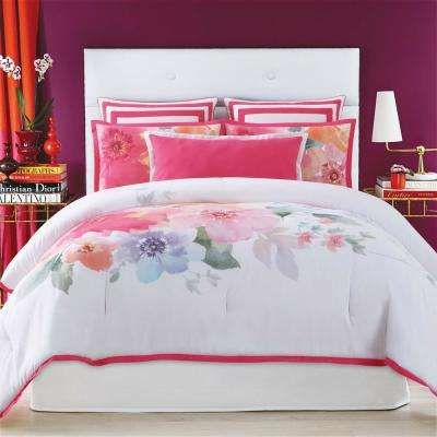 Bold Floral Full/Queen Comforter with 2-Shams