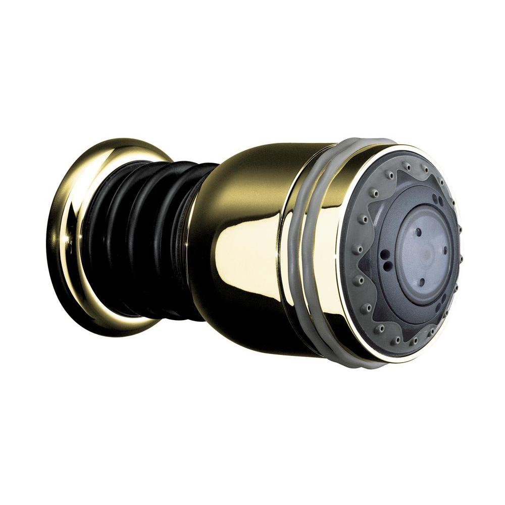 KOHLER MasterShower 3-Way 2-7/8 in. Raincan Body Spray Showerhead in Vibrant Polished Brass-DISCONTINUED