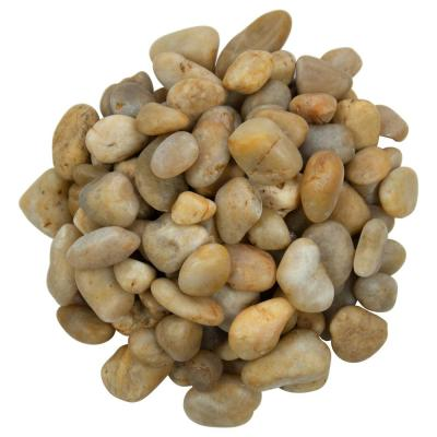 Yellow Polished 0.5 cu. ft . 1 to 2 in. Pebbles. 40 lb. Bag (55 Bags / Pallet)