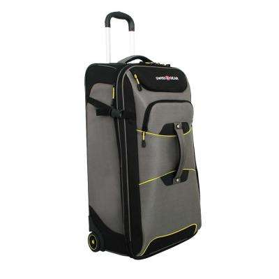 Sierre II 30 in. Gray and Black Rolling Upright Cement Suitcase