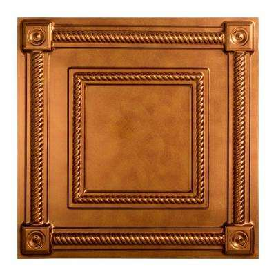 Coffer - 2 ft. x 2 ft. Lay-in Ceiling Tile in Antique Bronze