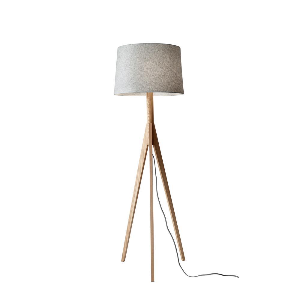 59.25 in. Beige Eden Floor Lamp