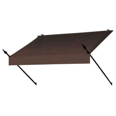 6 ft. Designer Manually Retractable Awning (36.5 in. Projection) in Cocoa