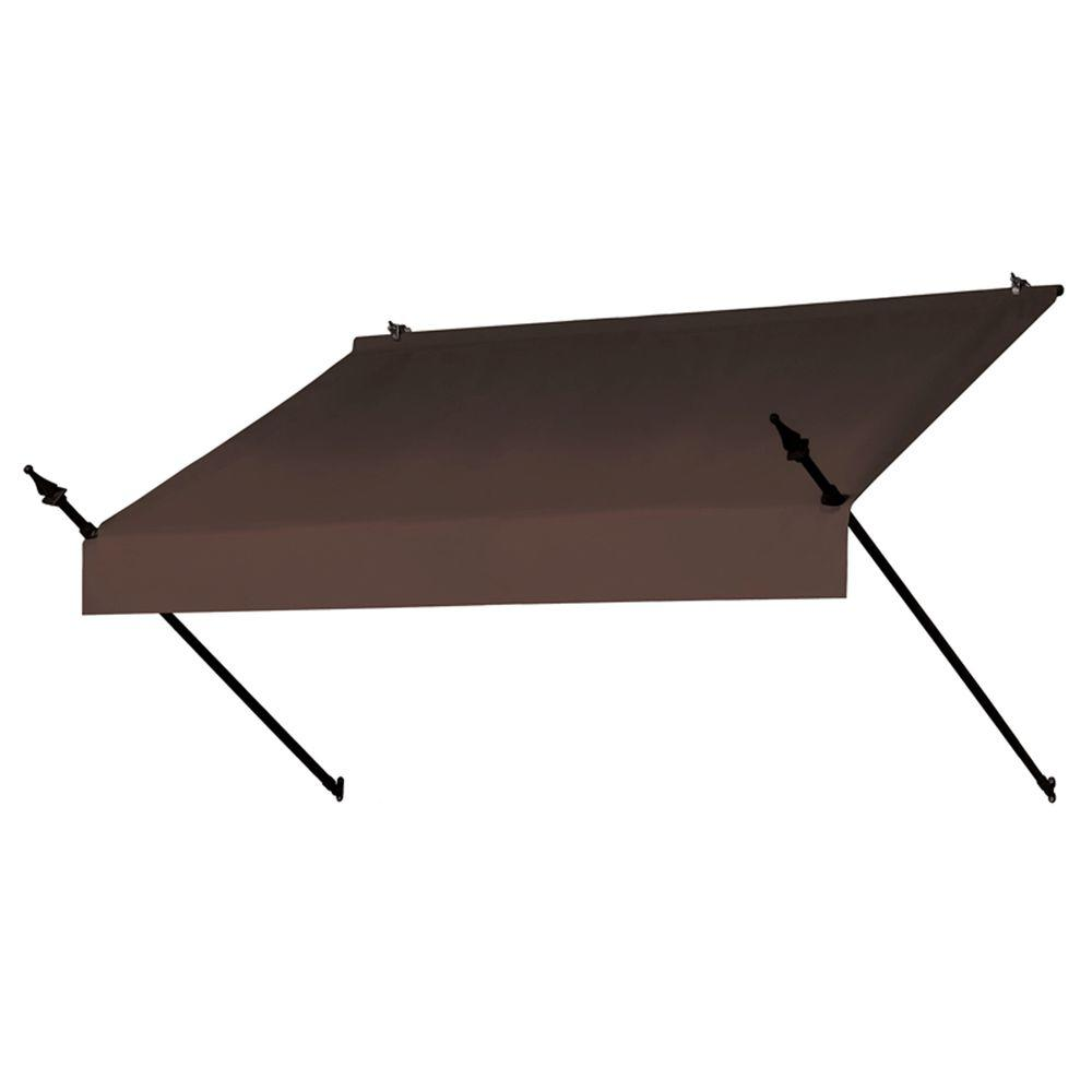 Awnings In A Box 6 Ft Designer Manually Retractable Awning 36 5 In Projection In Cocoa 3020773 The Home Depot
