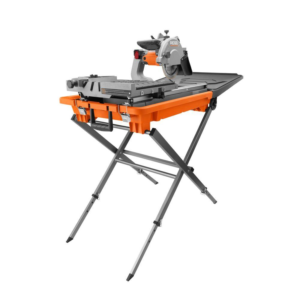 Ridgid 12 Amp Corded 8 In Wet Tile Saw With Stand R4040s