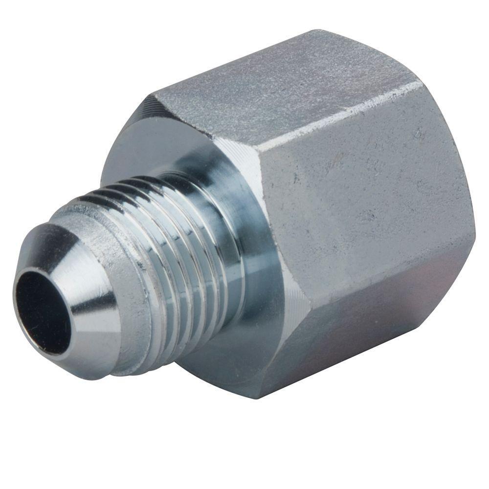 3/8 in. O.D. Flare x 1/2 in. FIP Steel Gas Fitting