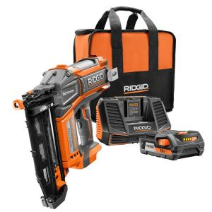 Ridgid HyperDrive 18-Volt Brushless 16-Gauge 2-1/2 inch Straight Nailer by RIDGID