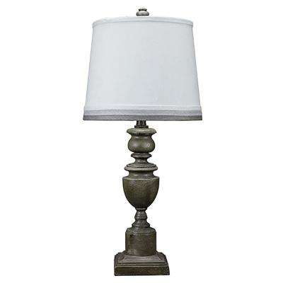 28 in. Gray Table Lamp