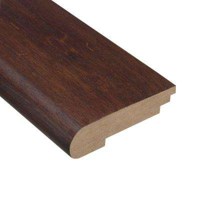Moroccan Walnut 1/2 in. Thick x 3-1/2 in. Wide x 78 in. Length Hardwood Stair Nose Molding