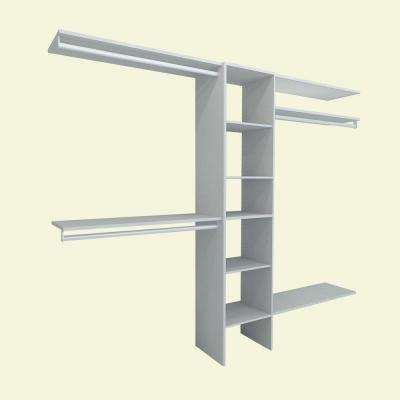 Selectives 82.46 in. H x 108 in. W x 14.57 in. D 11-Piece Basic Closet System in White