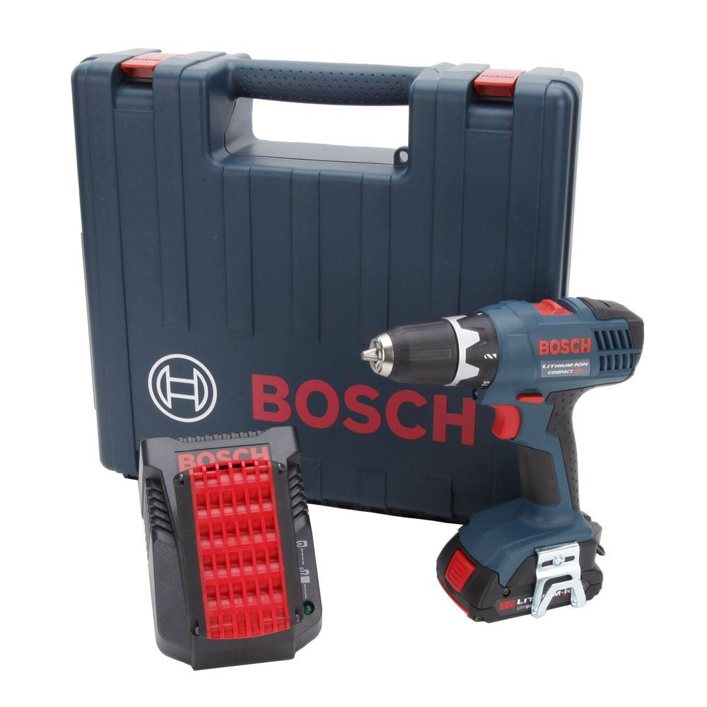 Bosch 18-Volt Lithium-Ion Compact Drill Driver with 2-Slim Packs and Charger